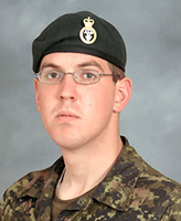 Photo of David Byers – Pte David Byers, a member of 2 PPCLI was killed on Sept 18, 2006 by a suicide bomber who attacked his patrol in Afghanistan.