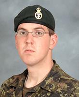 Photo de David Byers – Le Soldat David Byers, membre du 2e PPCLI a été tué le 18 septembre 2006 par un kamikaze qui a attaqué sa patrouille en Afghanistan.
