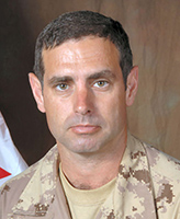 Photo of Robert Girouard – Chief Warrant Officer Robert Girouard, Regimental Sergeant Major of 1st Battalion Royal Canadian Regiment (1 RCR) Battle Group, based out of Petawawa, Ontario, was killed on 27 November 2006, when a suicide bomber drove an explosive laden vehicle into a Canadian Convoy. The resulting explosion killed Chief Warrant Officer Robert Girouard and Corporal Albert Storm of 1 RCR. At the time of the incident the convoy was travelling along Hwy 4, toward Kandahar city on its way to Panjwayi.  Photo: Canadian Forces Image Gallery