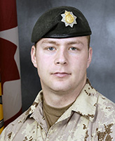 Photo of Aaron E. Williams – Corporal Aaron E. Williams, of the Royal Canadian Regiment was killed when his light armoured vehicle struck an improvised explosive device near the border between Helmand and Kandahar provinces.  Photo: Canadian Forces Image Gallery
