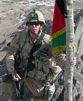 Photo of Joel Vincent Wiebe – Pte. Joel Vincent Wiebe in the Panjwai District Afghanistan, Spring 2007.