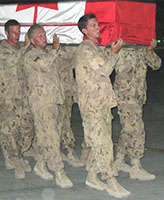 Ramp Ceremony – In the early hours of June 20, 2007, we received the terrible news Joel and two other soldiers had been killed by an IED. The following day, on what should have been Joel's 23rd Birthday, the RAMP Ceremony was held. June 21, 2007 at Kandahar Airfield (KAF).