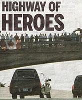 Newspaper clipping – Toronto Sun Newspaper - June 24, 2007 - Our soldier's hearses on the Highway of Heroes.