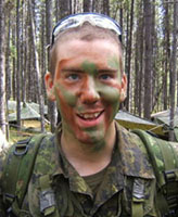 Photo of Joel Vincent Wiebe – Pte. Joel Vincent Wiebe during field training at Wainwright AB, 2005.