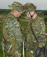 Group Photo – Pte. Joel Vincent Wiebe (on the right) during field exercises at Wainwright AB, 2005.