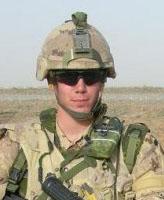 Photo of Joel Vincent Wiebe – Pte. Joel Vincent Wiebe in Afghanistan, Spring 2007.