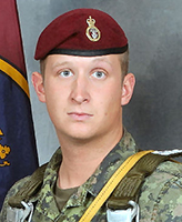 Photo of Jordan Anderson – Cpl Jordan Anderson, 3rd Battalion Princess Patricia's Canadian Light Infantry was killed on 4 July, 2007 along with 5 other CF members and one Afghan interpreter, when the vehicle they were traveling in struck an improvised explosive device, approximately 20km south-west of Kandahar City. 3 PPCLI is based out of Edmonton, Alberta. Photo: Canadian Forces Image Gallery