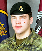 """Photo of Lane Watkins – Private Lane Watkins was killed on 4 July, 2007 along with 5 other CF members and one Afghan interpreter, when the vehicle they were traveling in struck an improvised explosive device, approximately 20km south-west of Kandahar City. Pte Watkins was a member of 3rd Battalion Princess Patricia""""s Canadian Light Infantry, 3 PPCLI, based out of Edmonton.  Photo: Canadian Forces Image Gallery"""