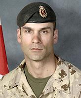 Photo de Christian Duchesne – Le Cplc Christian Duchesne a été tué le 22 aôut, 2007 après que le véhicule dans lequel il voyageait, un VBL III, a heurté ce que l'on présume être une mine. L'incident s'est produit à 06 h 19, heure de Kandahar, à environ 50 km à l'ouest de Kandahar City pendant l'opération EAGLE EYE, menée conjointement par les Forces de sécurité nationales afghanes (FSNA) et la FIAS dans le but de stabiliser davantage le district de Zharey. Le Cplc Christian Duchesne était membre du 5e Ambulance de campagne, cantonné à Valcartier, Québec. Photo credit : Cpl Martin Long, Section d'imagerie Garnison Valcartier.
