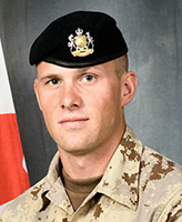 Photo of Nathan Hornburg – Corporal Nathan Hornburg died in Afghanistan on September 24 during Operation SADIQ SARBAAZ (Honest Soldier). Cpl Hornburg, a reservist from the King's Own Calgary Regiment, was hit by a mortar shell as he was fixing a track that had fallen off the Leopard tank in the Panjwaii district.   Photo: Canadian Forces Image Gallery