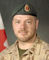 Photo of Nicolas Beauchamp – Corporal Nicolas Beauchamp was killed on 17 November, 2007 when the vehicle he was traveling in, a LAV III, struck an Improvised Explosive Device. The incident occurred around 12 a.m. Kandahar time, approximately 40 km West of Kandahar city in the vicinity of MaÕsum Ghar. Cpl Beauchamp, was 28 years old and a member of 5 Field Ambulance, based in Valcartier, Quebec.  Photo: Canadian Forces Image Gallery