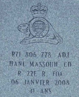 Pierre Tombale – Stèle dans le cimetière Saint-Charles, à Québec.