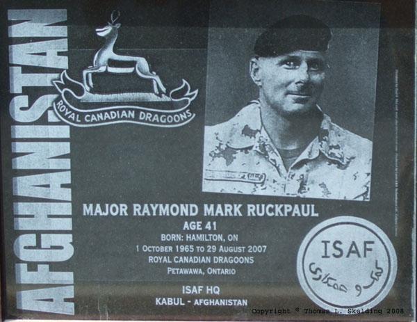 Kandahar Airfield Memorial Plaque