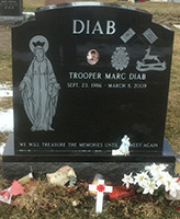 Grave Marker – Marc Diab, Headstone, Assumption Cemetery, Mississauga [2014-04-16]
