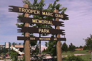 Memorial – Tpr Marc Diab Memorial Park,  Mississauga, Ontario.