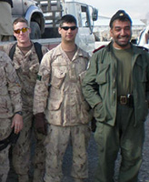 Group Photo – Left to right- Sgt Mark Jones, Unidentified RCMP officer, WO Dennis Brown, Cpl Darryl Dawson, Cpl. Dany Fortin and an Afghan National Police Officer.  Afghanistan, TF 3-08