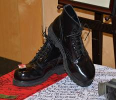 Memorial – These Were Joshua's Dress Boots On Display At His Tribute.