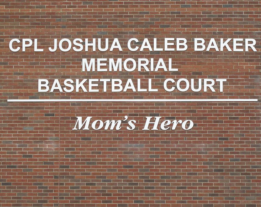 Memorial – Joshua's Legacy Begins - Joshua And I Both Attended Ellesmere-Statton Public School And Because Of That, It Held A Very Special Meaning To Me As His Mother. After Meeting With The Principle And Discussing What Could Be Done To Best Honour Joshua We Decided A Brand New Basketball Court Was The Perfect Legacy To Represent The Ultimate Sacrifice He Made For His Country. On September 12th, 2013 This Basketball Court Was Dedicated In Joshua's Honour.