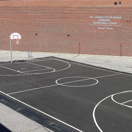Memorial – The Full View Of Joshua's Brand New Basketball Court Done In Honour Of Him - Love, Mom