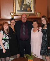 Family Photo – Taken 3 years ago at his niece's wedding....His daughter Marisa, sisters Joan and Colleen also niece Sonya......great that he could attend.....A memory i am sure well live in  the hearts of all who enjoyed his company.....