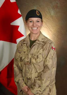Photo of Kristal Lee-Anne Giesebrecht – Photo courtesy of Department of National Defence.