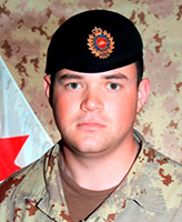 Photo of Brian James Collier – Portrait of Sapper B.J. Collier, 1 Combat Engineer Regiment. (Image credit: Department of National Defence.)