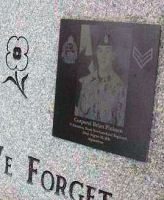 Memorial – Sgt Craig Gillam & Cpl Brian Pinksen memorial, Glynmill Pond, Corner Brook, Newfoundland