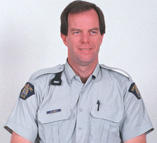 Photo of Jean Minguy – RCMP Cst. Jean Minguy - Drowned on duty 3 June 2005 on marine patrol in Okanagan Lake, BC.