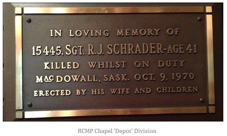 Memorial Plaque – Photo courtesy of www.rcmpgraves.com