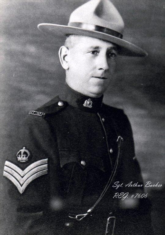 Sergeant Arthur Julian Barker – © Her Majesty the Queen in Right of Canada as represented by the Royal Canadian Mounted Police