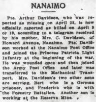 Newspaper clipping – From the Daily Colonist of May 19, 1917. Image taken from web address of http://archive.org/stream/dailycolonist59y138uvic#page/n0/mode/1up