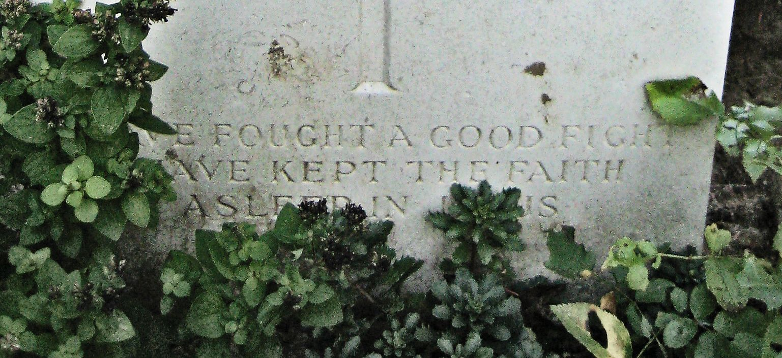 Inscription – Epitaph  (John & Anne Stephens 2013)