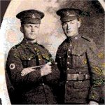 Photo 2 of George Alfred Harwood – This is George with his brother Ralph in England circa Dec. 1916