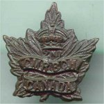Hat Badge – This is George's Hatbadge. 2nd CMR (Canadian Mounted Rifles)