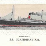 SS Scandinavian – This is the SS Scandinavian which George went overseas on in August 1916