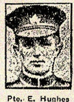 Newspaper clipping – Pte. Edward Hughes enlisted with the 83rd Battalion in Toronto on August 2nd, 1915.