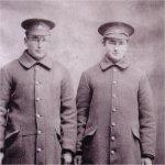 Photo of Henry Kostuk and John Kostuk – Henry Kostuk and John Kostuk of 114th Bn. John was killed in the line of duty.