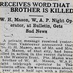 Press Clipping – source: Morning Bulletin (Edmonton); May 2, 1917, page 3