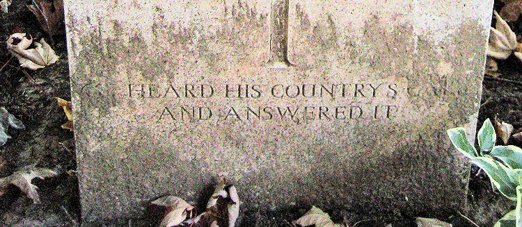 Inscription – Epitaph  (John & Anne Stephens 2013)