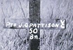 Original grave marker – The original grave marker for Private John Pattison.  The Photo is from the Glenbow Museum, Alberta.