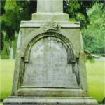 Memorial – Robert H. Simonds is commemorated on this cenotaph in Fort Langley, British Columbia.