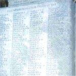 Close up of Sons of England War Memorial – Matthew Tickner's name is included on the SOE War Memorial.