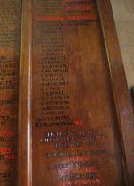Inscription – Fred's name commemorated on the Roll of Honour.  He was a bricklayer by trade.  He enlisted on 2nd December 1915 at Moose Jaw SasK., and was living in Borderland Sask., at the time.