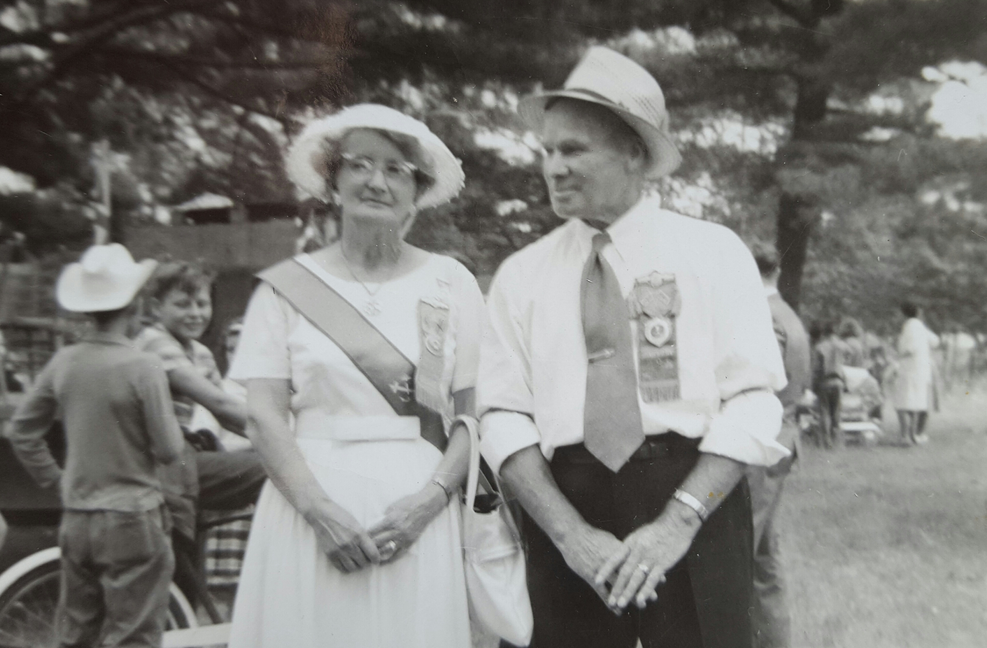 Group Photo – This is a picture of Ira's Sister, Elizabeth Mae Young and her husband Frank Harrington. I am their Great Grand-Daughter and Ira was my Great Uncle.