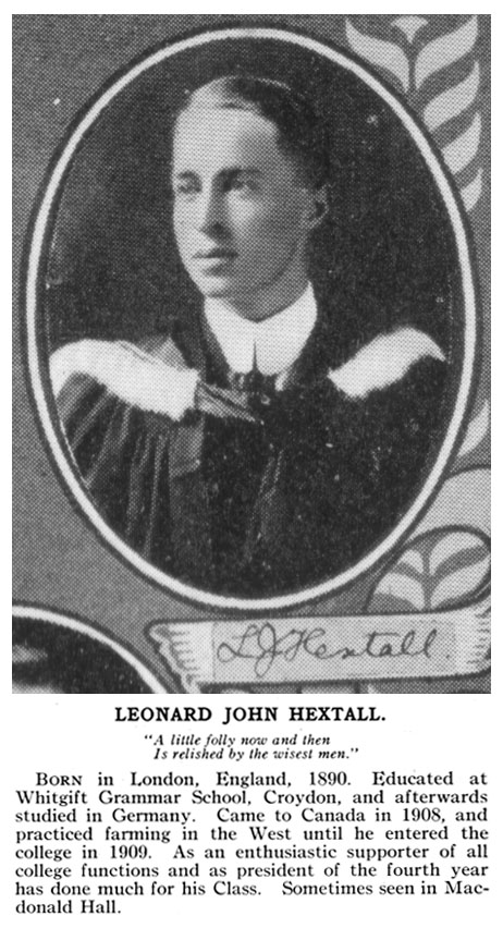 Photo of Leonard Hextall