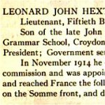 """Newspaper Clipping – From the """"University of Toronto / Roll of Service 1914-1918"""", published in 1921."""