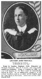 Photo of Leonard Hextall – Torontonensis 1913 (University of Toronto Year Book), pg. 214.