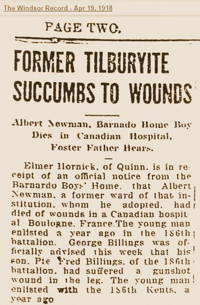 Newspaper Clipping – News clipping regarding the notification to his former employer that Albert had fallen.