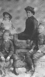 McCrae Family Photo – John McCrae on left, with his mother, brother Tom and sister Geills (photo: McCrae House)