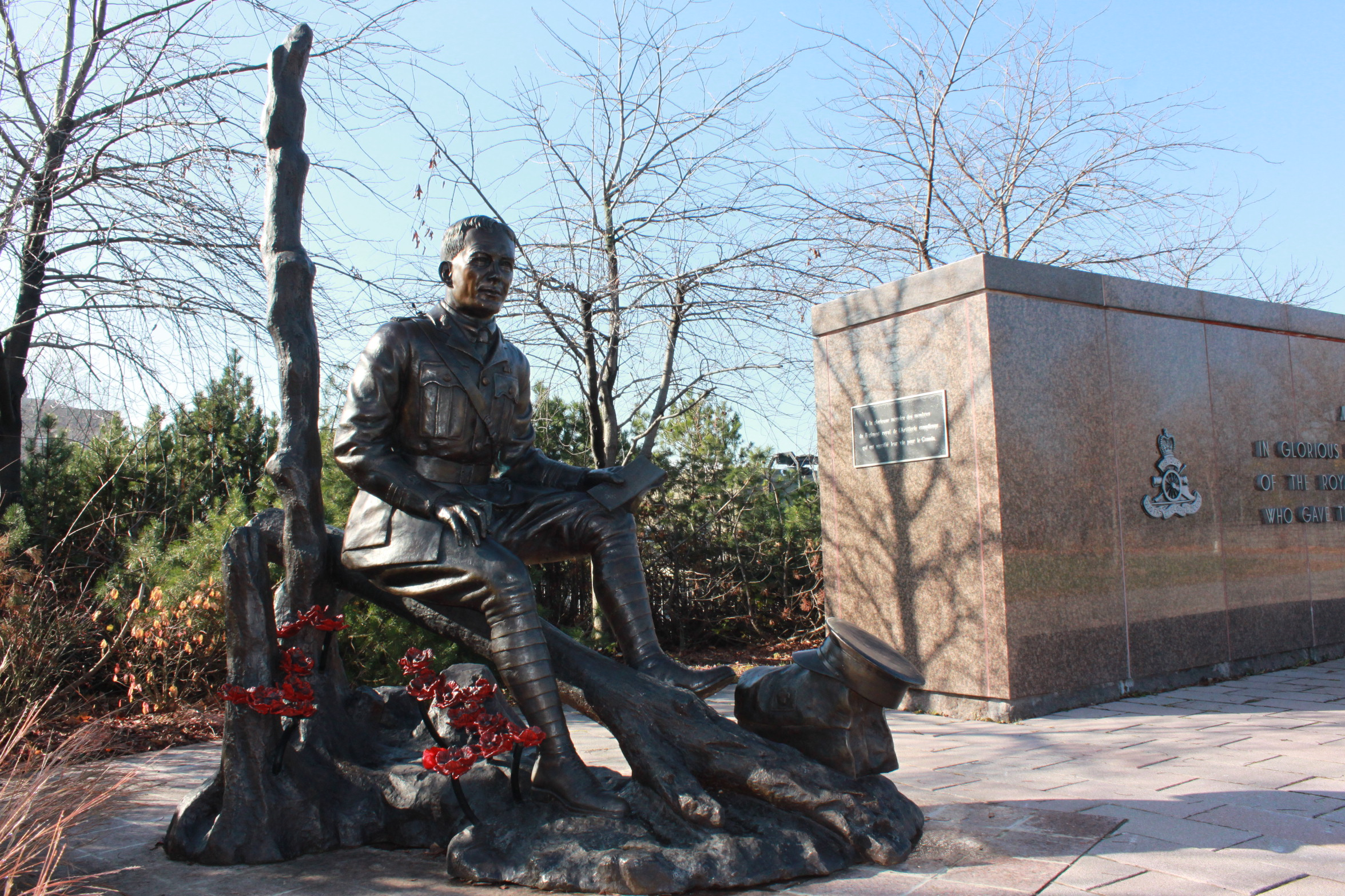 Memorial – This statue is located on Green Island, Sussex Drive, Ottawa, Ontario.